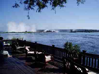 Zambesi river at Royal Livingstone hotel Zambia