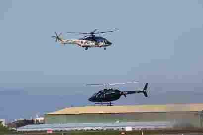 TF-GNA and TF-HDI Agusta AB-206B Jetranger II
