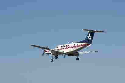 TF-MYX Beech B200 Super king air fly by