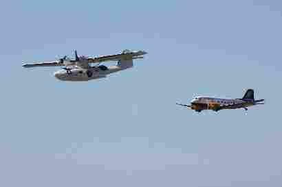 Catalina and TF-NPK fly by