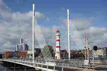 Walking bridge, Lighthouse and Turning torso