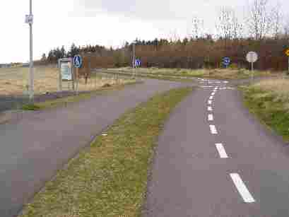 Walking and bicycle path