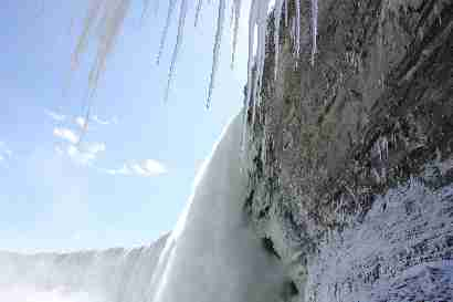 Horseshoe falls from below