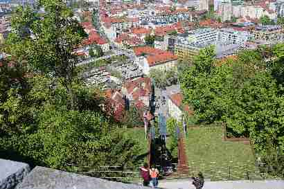 Funicular to castle