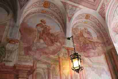 Chapel ceiling in Bled castle