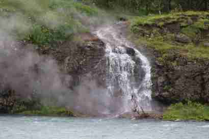 Hot waterfall in Selfoss