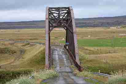 Old bridge over Þjórsá