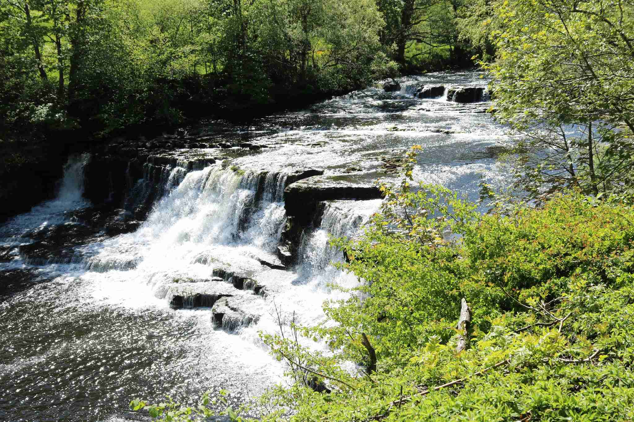 Middle falls in river Ure