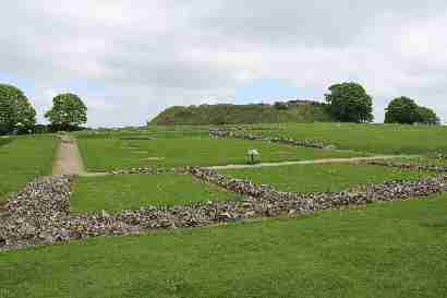 Old sarum cathedral and castle