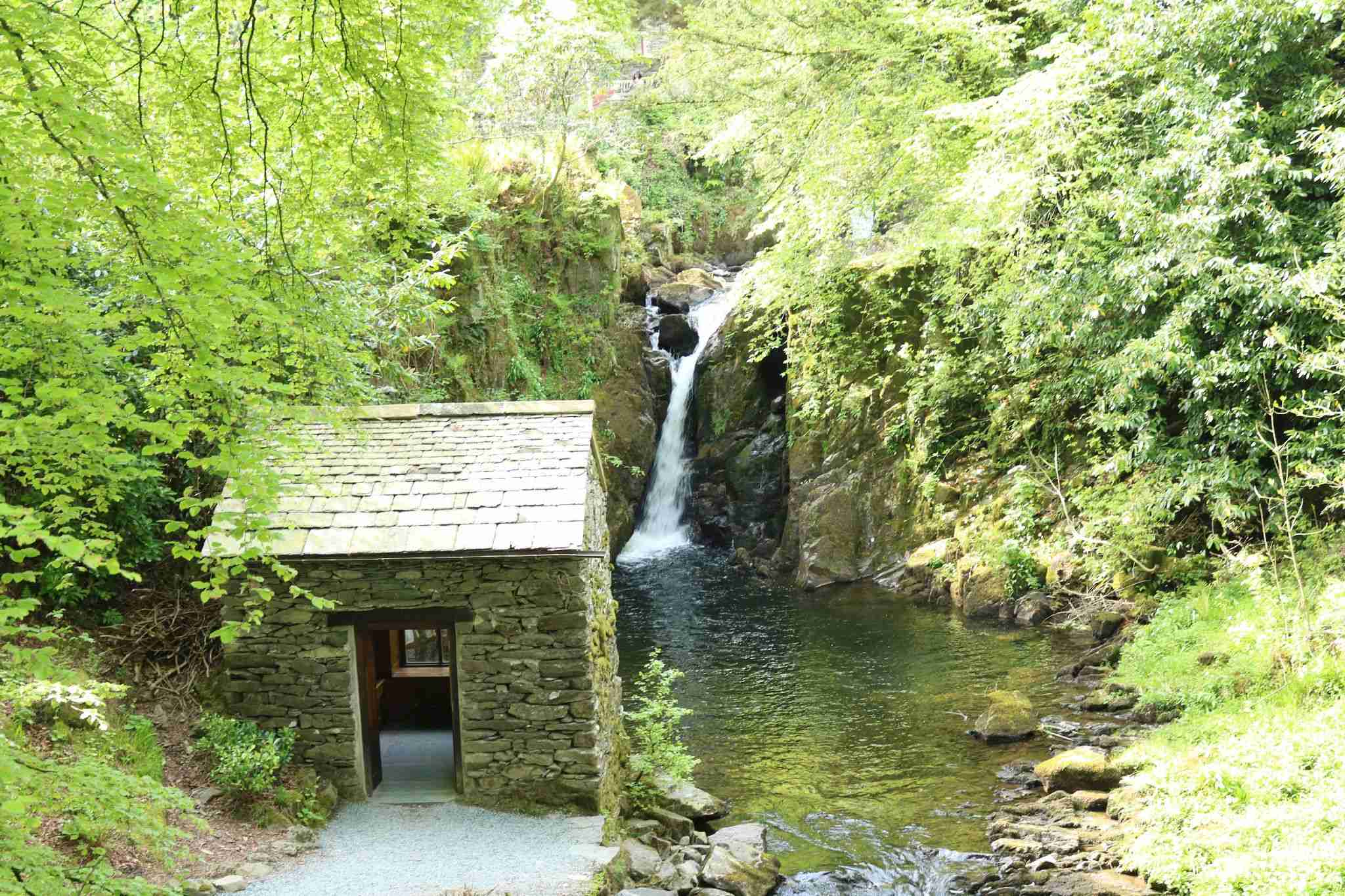 Rydal Grot and waterfall