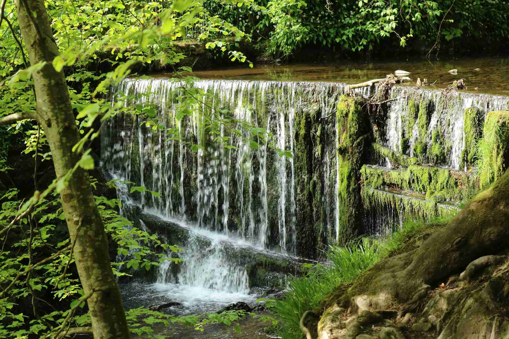 Curtain waterfall in Stock ghyll